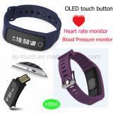 La fréquence cardiaque Smart Bluetooth Bracelet avec la pression artérielle