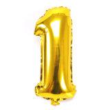 40 بوصة 0-9 نوع ذهب رقم يتضخّم رقيقة معدنيّة [بيرثدي برتي] إمداد تموين