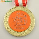 Kundenspezifische Metallandenken-Sport-Medaille mit Farbband