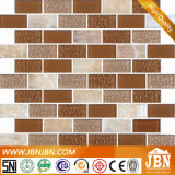 Mosaico de vidrio tiras de mármol y piedra de la pared de fondo (M838003)