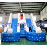 아이들의 Paradise Inflatable Slide 또는 The Outdoor Water Inflatable Slide