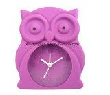 卸し売り子供の漫画のフクロウの形のホーム装飾の黙秘者のシリコーン表の目覚し時計