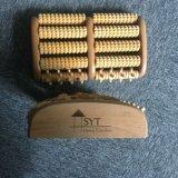 Rodillo de madera del masaje de la carrocería del pie de madera sano del rodillo