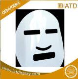 Vertoning van de Vorm van het Masker van de douane de Witte Acryl Kosmetische