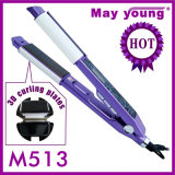 LCD profissional 2 em 1 Hair alisador e modelador de cabelo