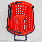 スーパーマーケットの圧延のプラスチックショッピングハンドルのバスケット