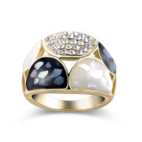 Diseño plateado oro del anillo de dedo de OEM/ODM 14K