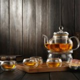 Borosilicate Knell Tea Set Glassware Knell Tea Pot Pyrex Tea Set