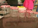 Vaso di vetro di Hotsell con il vaso dell'ostruzione della protezione del metallo o vaso per salsa calda piccante, inserimento del manzo