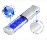 가벼운 USB 섬광 드라이브가 Colorfull 다이아몬드를 가진 호화스러운 결정 USB 섬광에 의하여 를 위한 LED 시니 경기를 한다