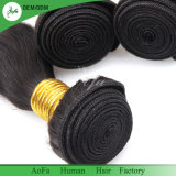 Чисто человеческого волоса монгольской волосы чистые природные Weft черного цвета