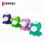 De nouveaux jouets pour animaux de compagnie en vinyle, drôle coloré grinçant osseuse pour chiens en caoutchouc