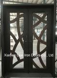 Doppio portello di entrata del ferro saldato di obbligazione con vetro