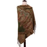 Inverno Pashmina do lenço do tamanho do teste padrão de flor das mulheres grande