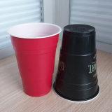 copo Home de solo do partido do vermelho plástico do picosegundo do produto comestível de preço de grosso de 14oz 425ml com logotipo