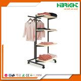 Bekleidungsgeschäft-Bildschirmanzeige-Regal-hölzernes und Stahlfach