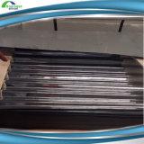 exportação ondulada revestida galvanizada 0.21mm das folhas da telhadura do zinco a Etiópia