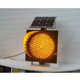 Предупредительный световой сигнал движения безопасности дороги 400mm солнечный желтый