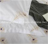 Van het Katoenen van 100% Reeksen van uitstekende kwaliteit de Witte Eenvoudige Beddegoed van de Stijl Comfortabele