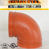 FM Ductile UL Approved Iron Red 90 Grooved Elbow