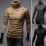 Venda por atacado longa da camisola do pulôver das luvas do Turtleneck do homem novo da forma