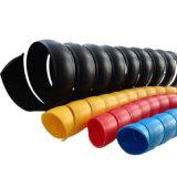 フォークリフトクレーンのためのPE PPのプラスチックケーブルの螺線形の包む袖