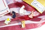 Значок эмали животных шаржа способа геометрический для одежд, мешков