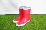 赤い子供のゴム製雨靴、子供の雨靴、子供の履物、中国の靴
