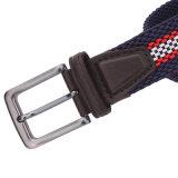 Cinghia Braided elastica dell'uomo dell'inarcamento della lega e del cuoio (RS-131247)