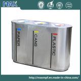 Compartiment intérieur en métal 3 personnalisé Bacs de recyclage des déchets en acier inoxydable