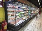 Гипермаркет Холодильное оборудование - Овощи и фрукты и напитки витрина для продаж