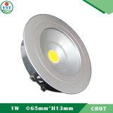3W LED는 솔질한 알루미늄 물자 Envirmental로 아래로 점화한다