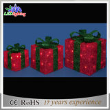 Indicatore luminoso esterno di festa di figura dei contenitori di regalo di natale della decorazione del LED