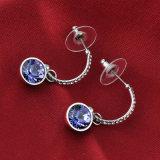 De elegante Purpere Oorring van de Daling van de Juwelen van de Tegenhanger van het Violetkleurige Bergkristal van het Kristal