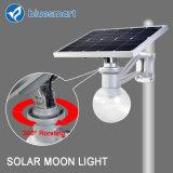 Luz solar del jardín de la calle LED de Bluesmart 6W con dimensión de una variable de la luna