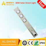 9600LM exterior Solar lámpara LED 60W en una sola luz de calle solar integrada