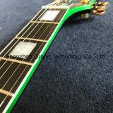 A guitarra elétrica do Lp do costume no preto estourou o verde (GLP-529)