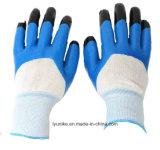 Доказательства масла из нитрила палец с покрытием усиленной безопасности рабочие перчатки