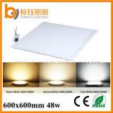 600X600mmの48W平らな正方形LEDの天井板ライト(AC85-265V、2700-6500k、保証3年の)