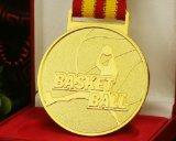 豪華な亜鉛合金の高品質のバスケットの球の第2ロゴメダル