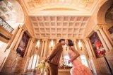 Meraidのピンクのサッシュによって玉を付けられる結婚披露宴Eveingは服を着せる花嫁衣装(TJBLCT010)に