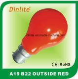 A19白熱外側の赤灯