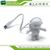 Luz clara flexível do USB do Spaceman do diodo emissor de luz do USB da amostra livre