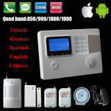 10 Language Optional를 가진 GSM & PSTN Wireless Security Alarm System