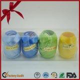 Folien-metallisches Oberflächenplastikkräuselnfarbband-Ei für Weihnachten