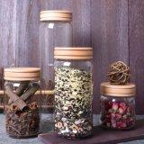 Os utensílios de vidro jarra vaso de especiarias alimento Candy Jar Jar de armazenamento de vidro seladas de parafuso
