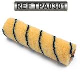 Coperchio del rullo di vernice acrilica del tessuto del poliestere con la riga nera striscia (TPA0301)