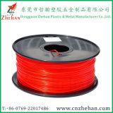 De fluorescente 3D Rode Kleur van de Gloeidraad van de Printer PLA