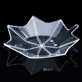 Vaisselle Disque en plastique Dispensable Saucer Maple Leaf Shaped Dish