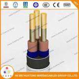 Плоский или круглый кабель для типа Esp силового кабеля насоса масла погружающийся